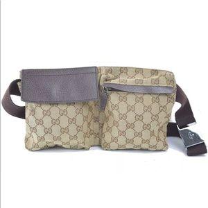ce6574156b2a Gucci. Authentic Gucci Canvas Fanny Pack Waist bag